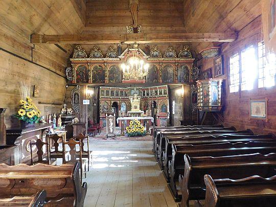 Wnętrze cerkwi św. Jakuba Młodszego Apostoła w Powroźniku.
