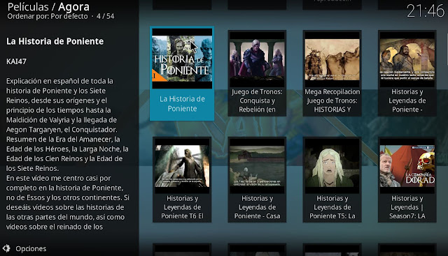Documentales Game of Thrones KODI