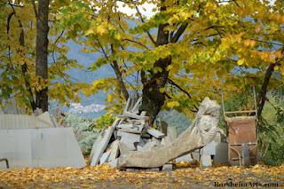 Autumn in Cava Nardini Stone Quarry Vellano Valleriana Toscana Italia
