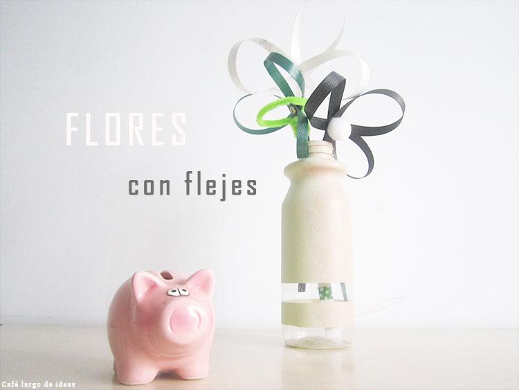 Flores con flejes