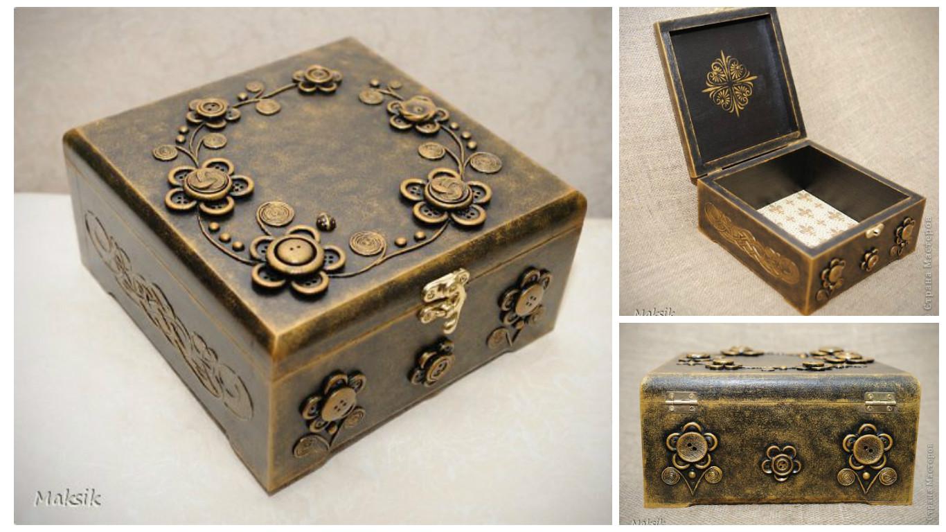 Tcnica fcil para decorar cajas con botones y plantillas lodijoella