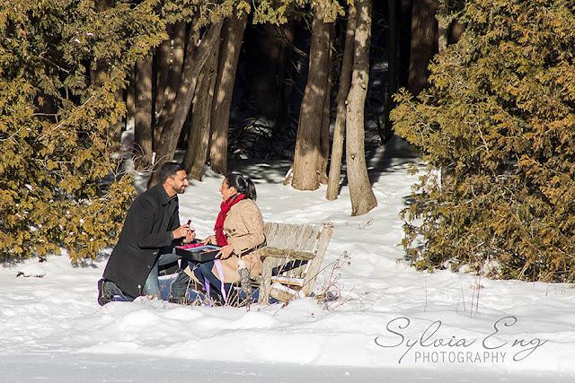 Proposal - with hidden photographer