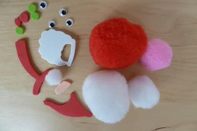 Christmas pom pom craft