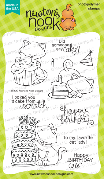 Newton Eats Cake Stamp Set by Newton's Nook Designs