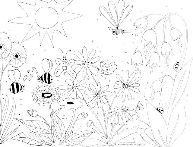 Wiola's Papiermomente .: Ausmalbild Frühling