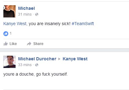 "Check out these hateful messages on Kanye West's FB page over his new ""Famous"" video"