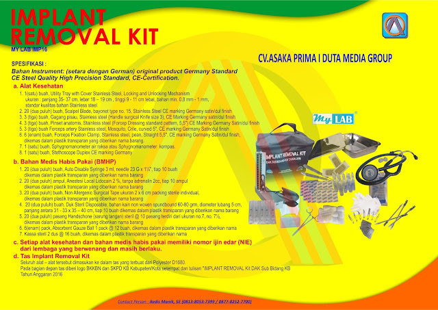 implant removal kit 2016, implant removal 2016, implant removal kit, harga implant removal kit 2016, jual implant removal kit bkkbn 2016, jual implant removal kit