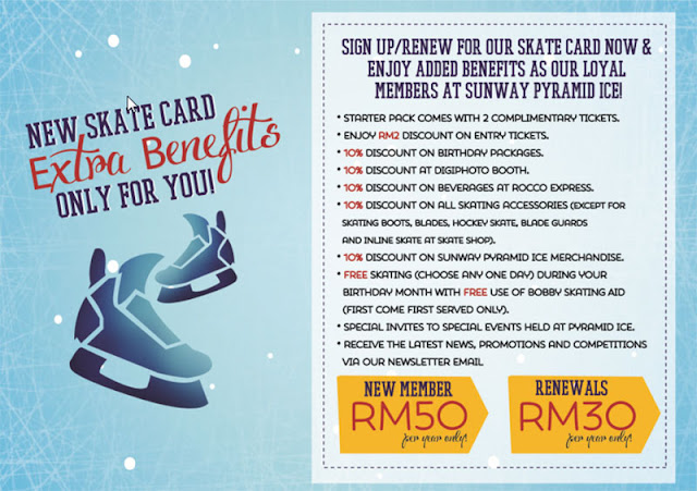 Sunway Pyramid Ice Skate Card Membership Fees & Benefits