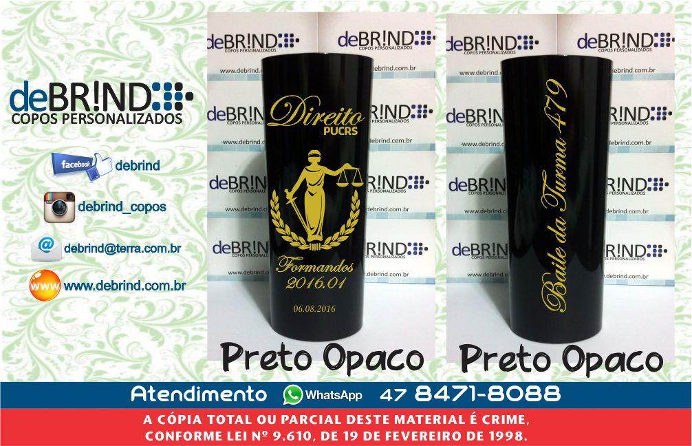 Copos Personalizados Formatura Direito Long Drink Acrilico
