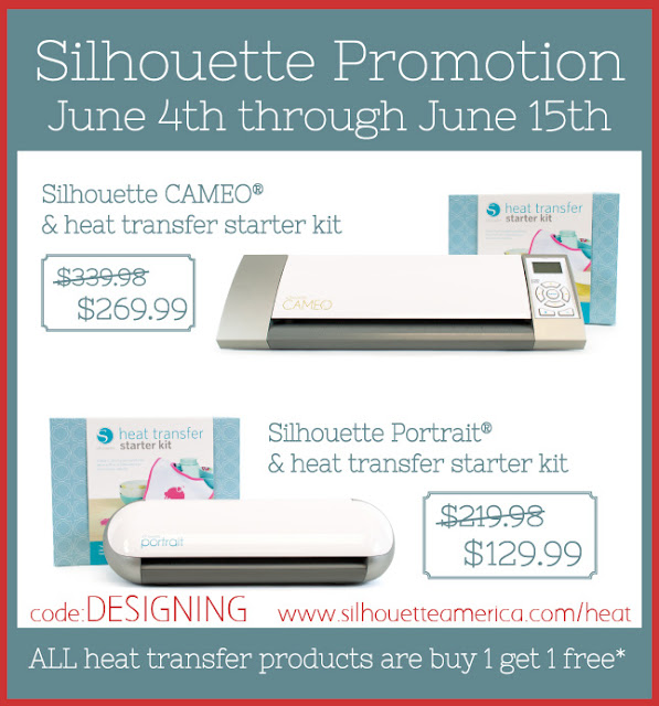 June Silhouette Promotion + Silhouette Giveaway #giveaway #silhouette @SimplyDesigning