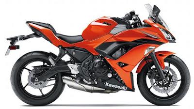 2017 Kawasaki Ninja 650 ABS orange colour wallpaper