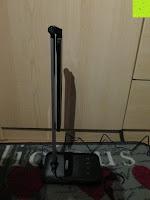 nach unten: CRECO 7W LED Tischlampe 5 Helligkeitsstufen 3 Modi dimmbar 270° drehbar Schreibtischlampe Schwarz [Energieklasse A+]