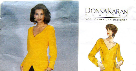 Vogue Donna Karan's 1094 pattern from 1993 just got here! Whoopee!