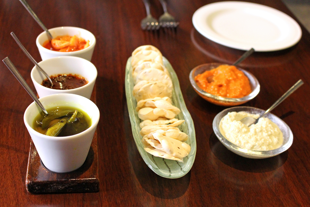 Poppadoms at Quilon, Michelin-starred Indian restaurant in Victoria, London - UK lifestyle blog