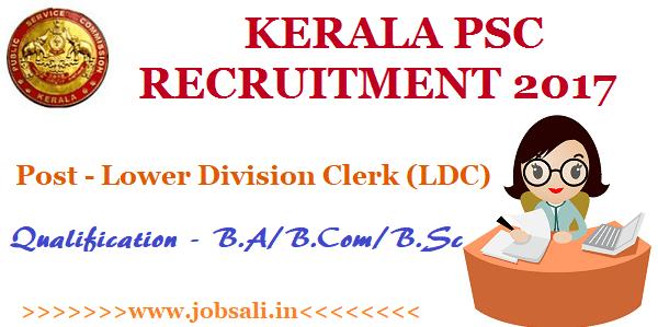 kerala psc online application, Govt jobs in Kerala, Kerala PSC Clerk Recruitment 2017