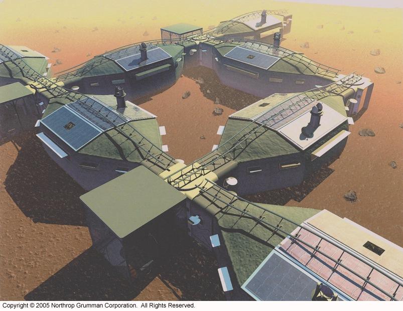 Modular Mars base habitat by Northrop Grumman