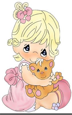 Baby clip art girl