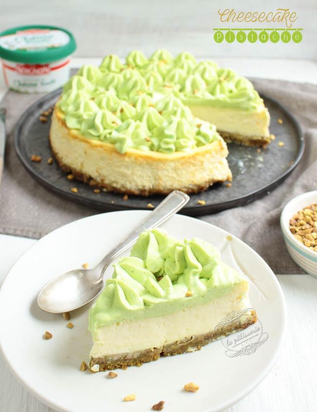 cheesecake pistache recette