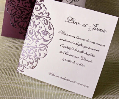 Joli Carte d'invitation mariage