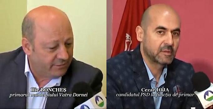 Confruntare electorală Ilie Boncheș - Cezar Ioja pe tema datoriilor municipiului Vatra Dornei