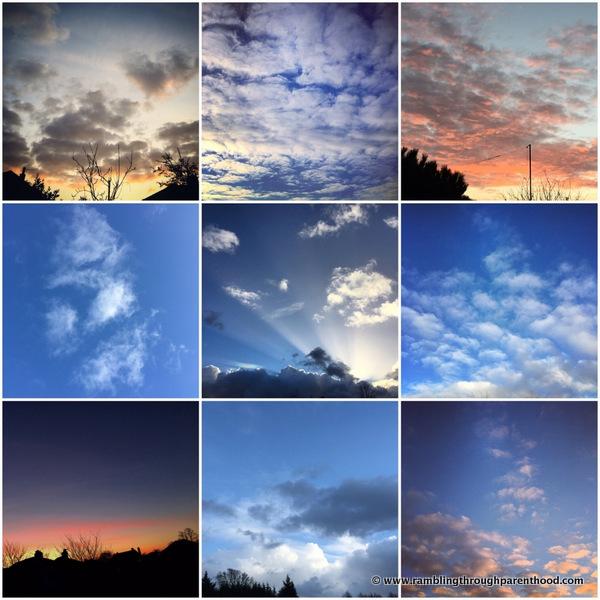 February Skies - inspiring the Sky Blanket
