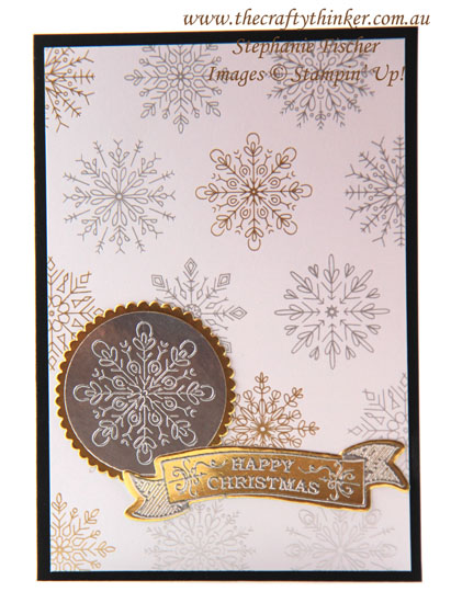 #thecraftythinker, #christmascard, #cardmaking, #xmascard, #rubberstamping, Christmas card, Quick & easy card, Stampin' Up Australia Demonstrator, Stephanie Fischer, Sydney NSW