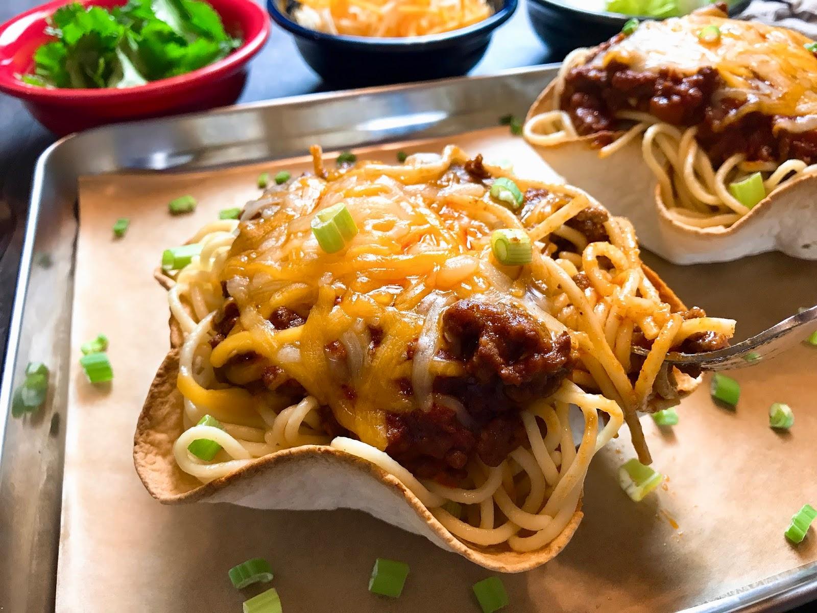 Spaghetti Taco Salad