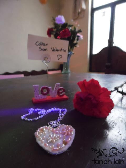 Manualidades para regalar en San Valentín: Collar DIY