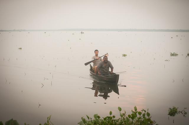 Out fishing; Kerala backwaters, India