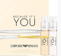 Logo Ricevi gratis fialette omaggio Mix New Emporio Armani .  Affrettati !