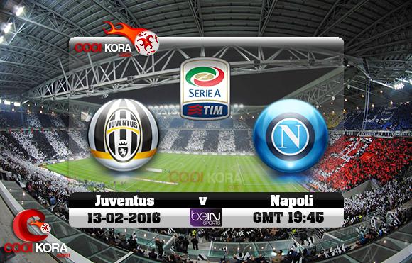 مشاهدة مباراة يوفنتوس ونابولي اليوم 13-2-2016 في الدوري الإيطالي