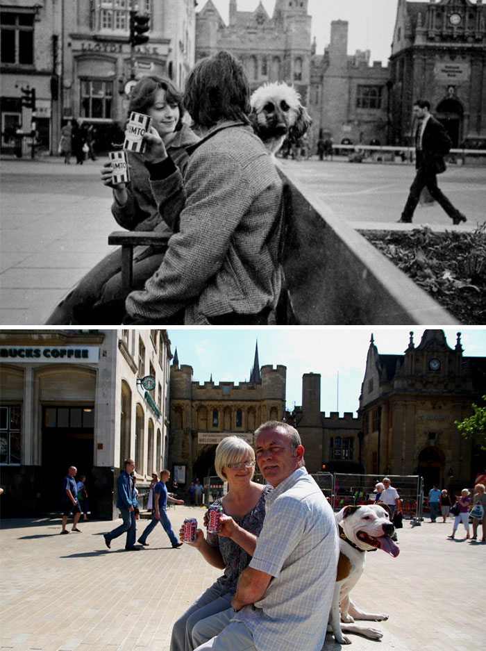 Photographer Recaptures Old Pictures Creating A Beautiful Reunion Of People He Photographed Decades Ago - Trudi And Dave Talbot (1980 And 2010)