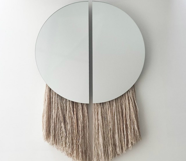 Espejos con flecos DIY