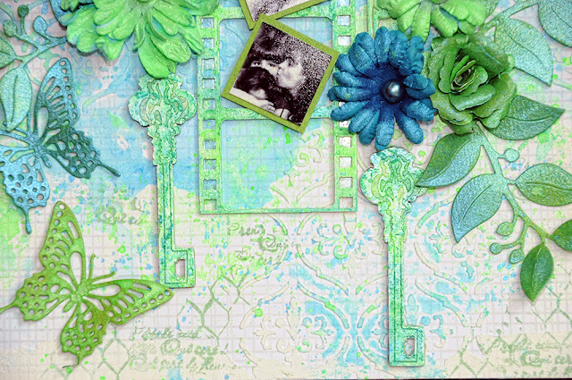 Layout by Lisa Gregory featuring Forever Young and wood embellishments