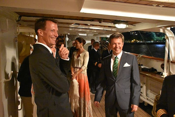Crown Prince Frederik, Crown Princess Mary, Prince Joachim, Princess Marie, Prince Nikolai and Prince Felix attended a gala dinner at Rio de Janeiro