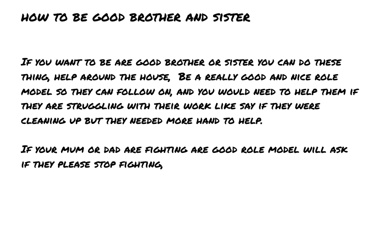 Jezakaia Pt England School How To Be A Good Brother Or