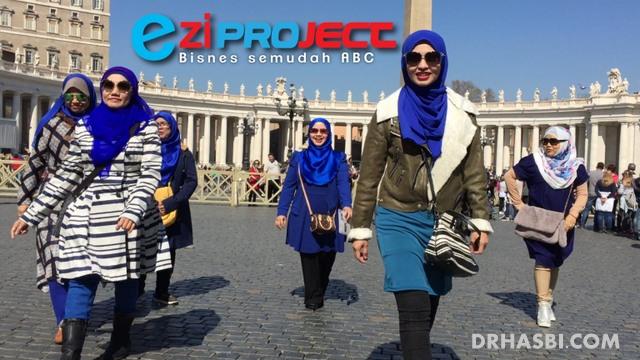 Video klip EziProject melancong ke Itali