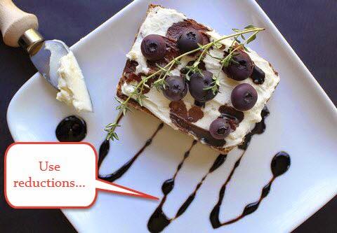 Balsamic reduction on a dessert