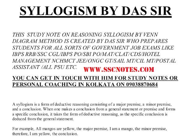 Syllogism Questions and Solving Tricks Notes PDF Download