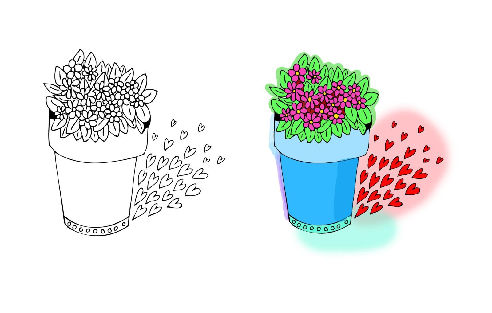 Grafika - obrys i kolorowanie