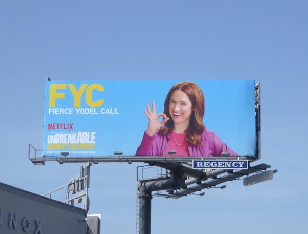 Unbreakable Kimmy Schmidt 2016 Emmy FYC billboard