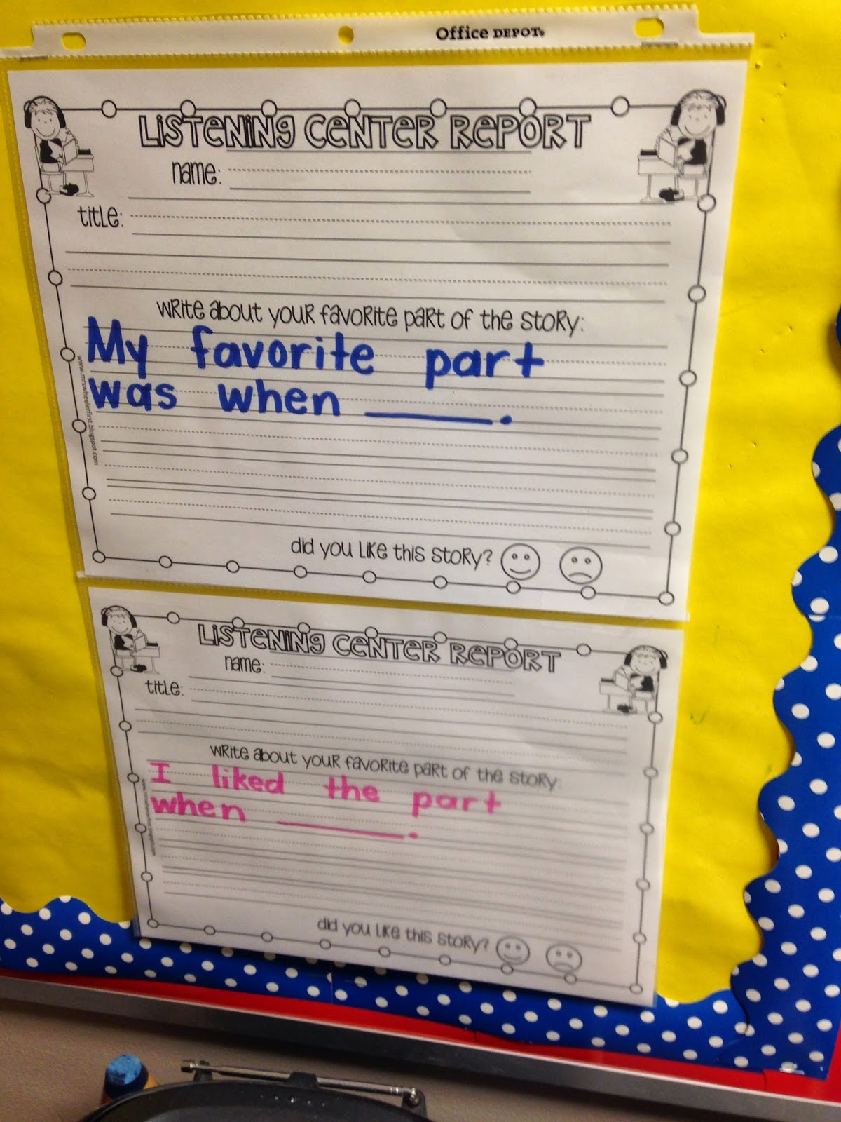 Differentiated Response To Listening Sheets Daily Five T