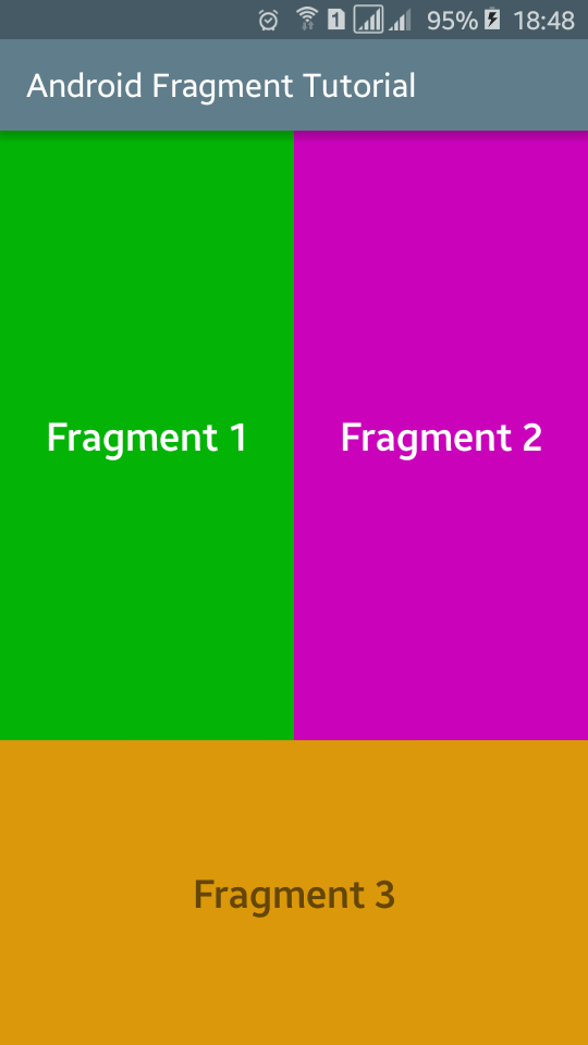 Android Fragments Example Create and Use