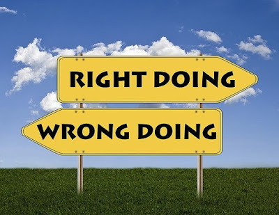 right and wrong actions in blogging
