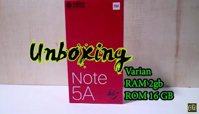 Unboxing Xiaomi Redmi Note 5A 2 16 Garansi Distributor