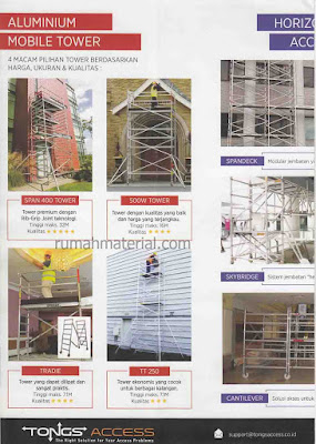 Aluminium scafolding Tongs Access Aluminium Mobile Tower