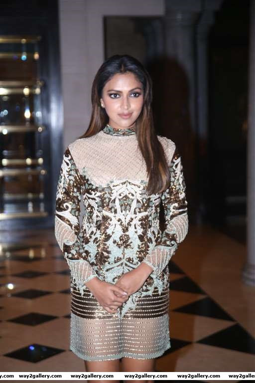 South Indian actress Amala Paul looked stunning at the launch of Celebrity Badminton League