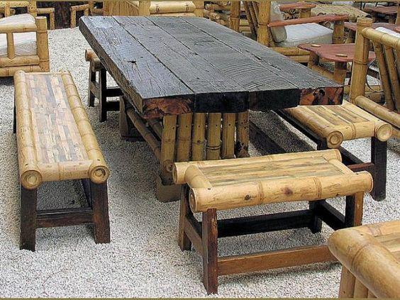Contoh model kursi dari bambu sederhana  Isi Rumahku