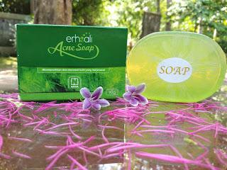 khasiat dan mafaat erhsali anti acne soap acne clear