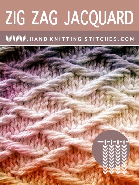Hand Knitting - Zig Zag Jacquard #SlipStitchKnitting